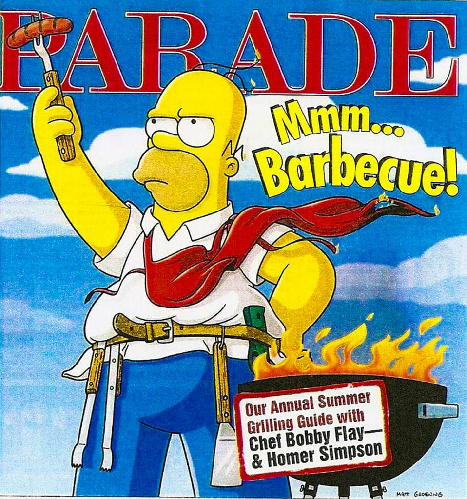 homer simpson barbecue