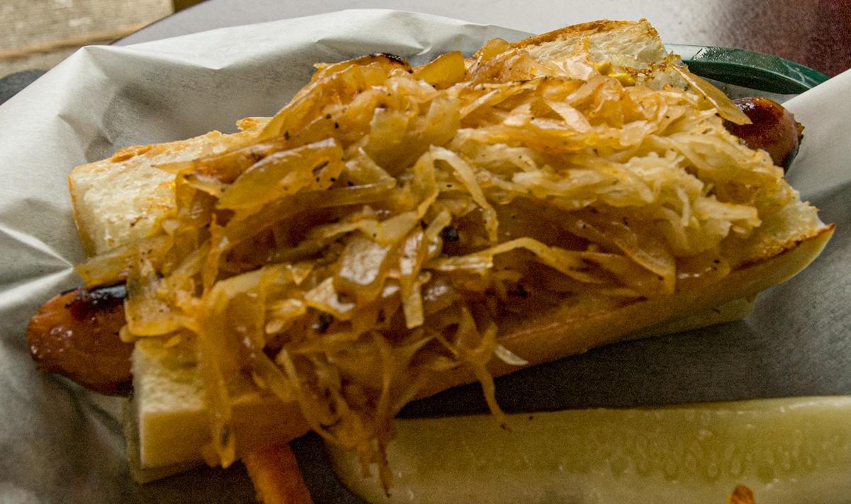 hotdog on french bread