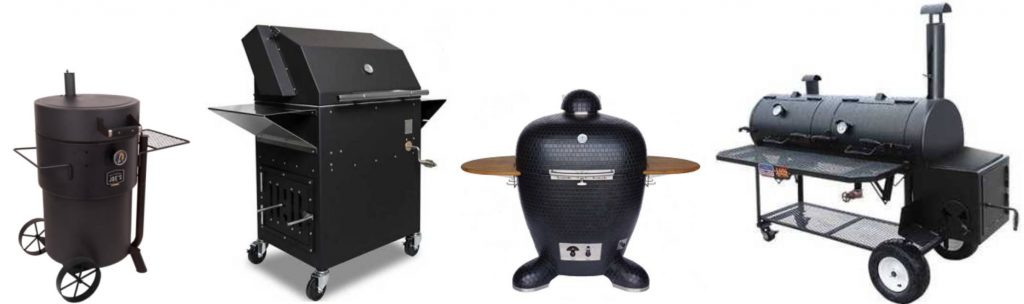 charcoal and wood burning smokers