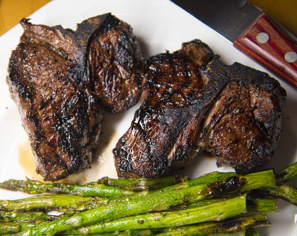 lamb chops in kentucky black sauce
