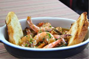 New Orleans BBQ Shrimp in a dish