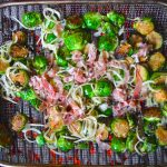 Fire roasting brussels sprouts