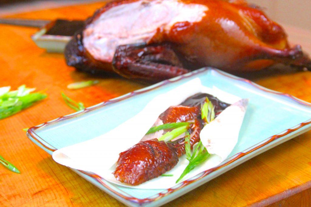 Smoked and sliced Peking duck