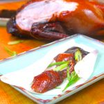 Smoked and sliced Peking duck