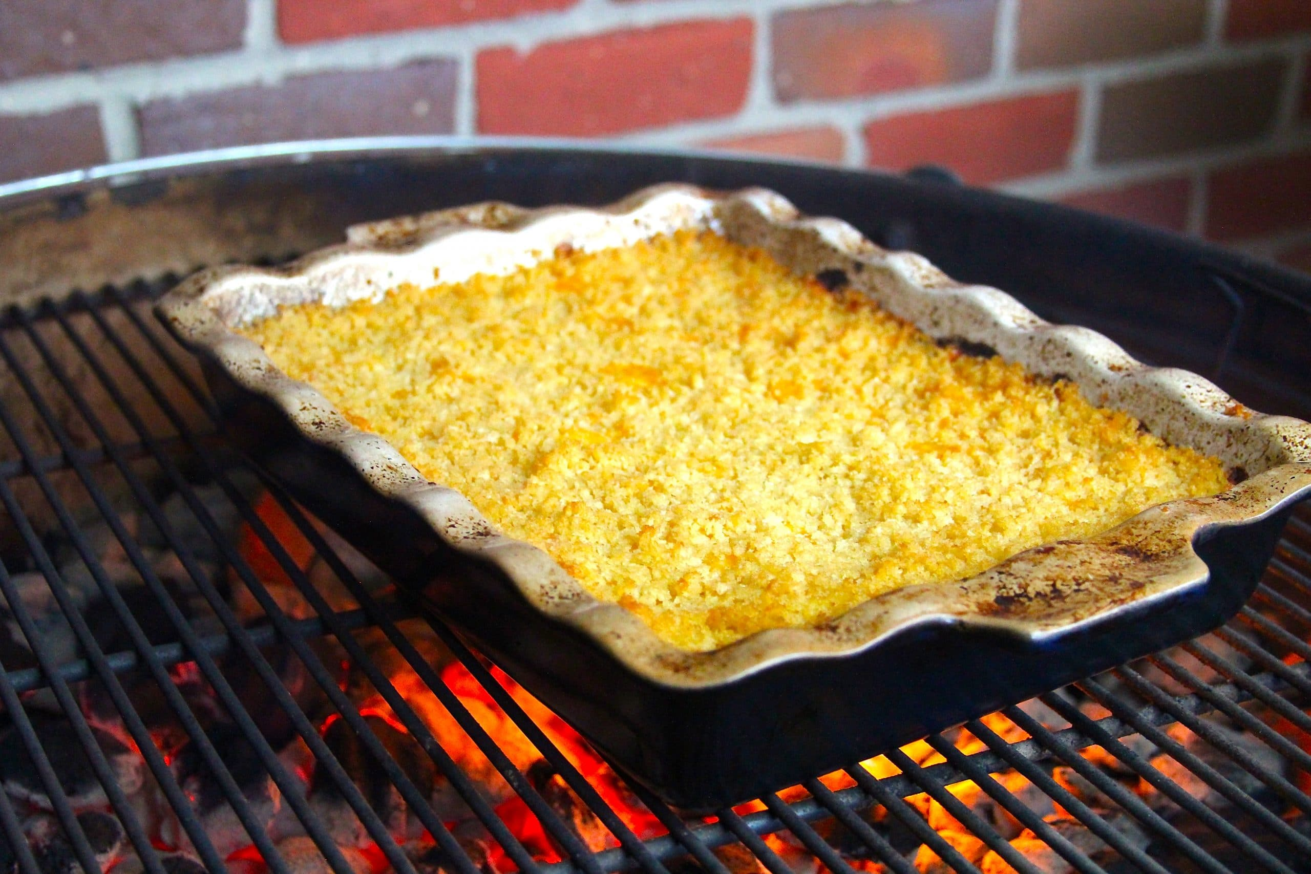 Mac and cheese on the grill