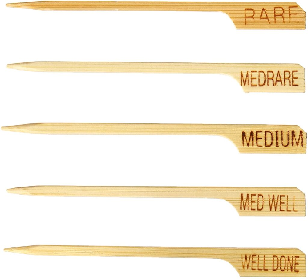 bamboo steak markers