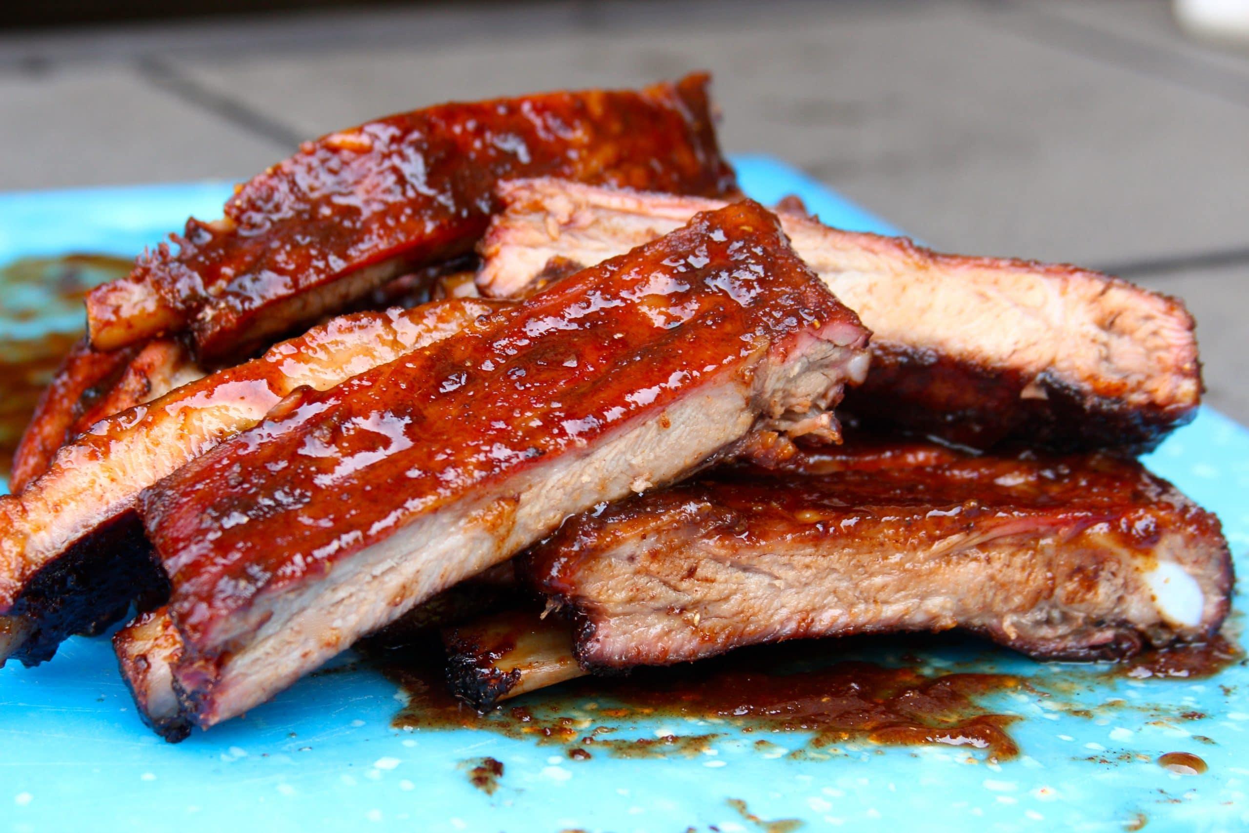 Soy-ginger glazed BBQ ribs