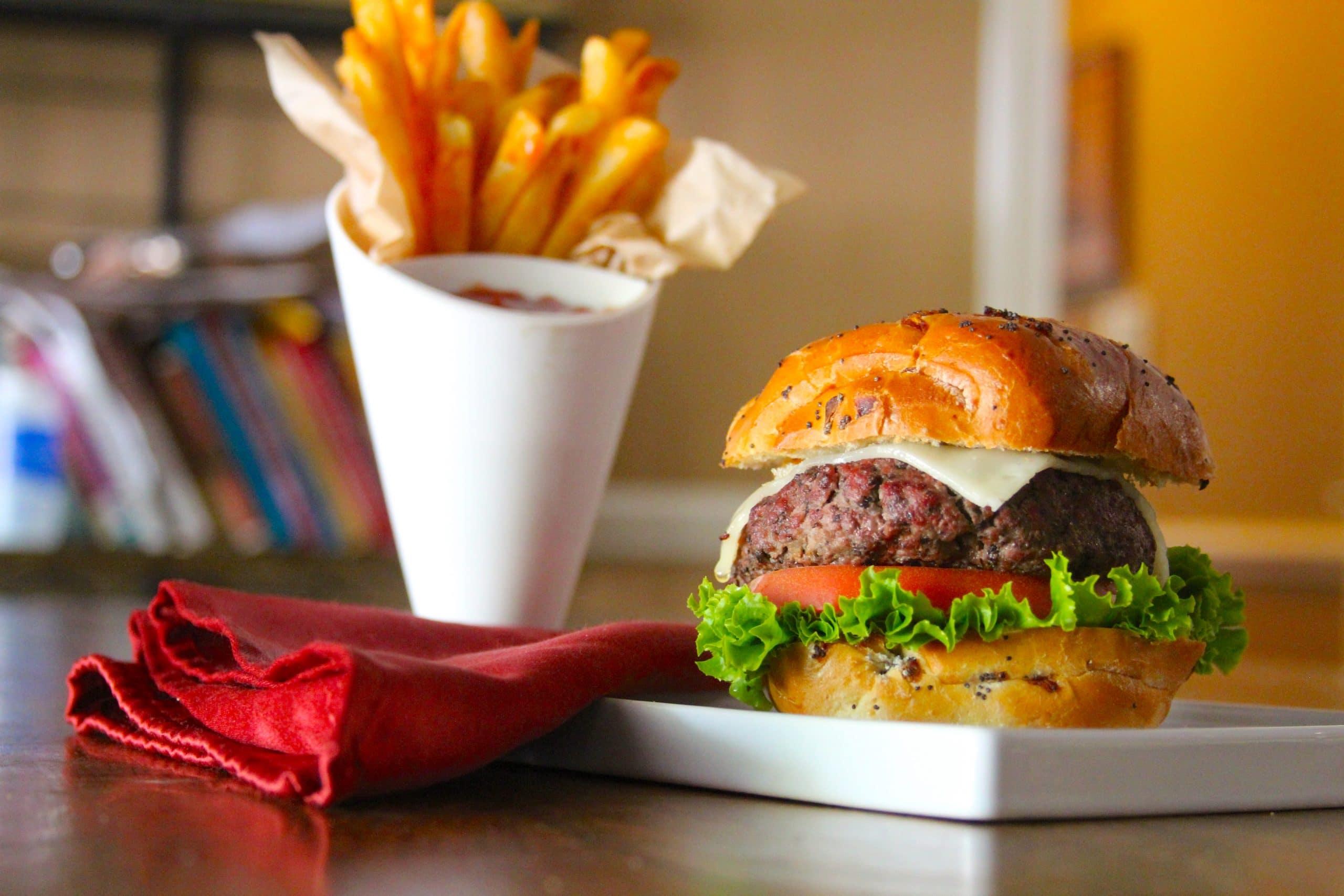 Mushroom and beef blended burger