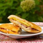 Pork loin Cuban sandwich plated