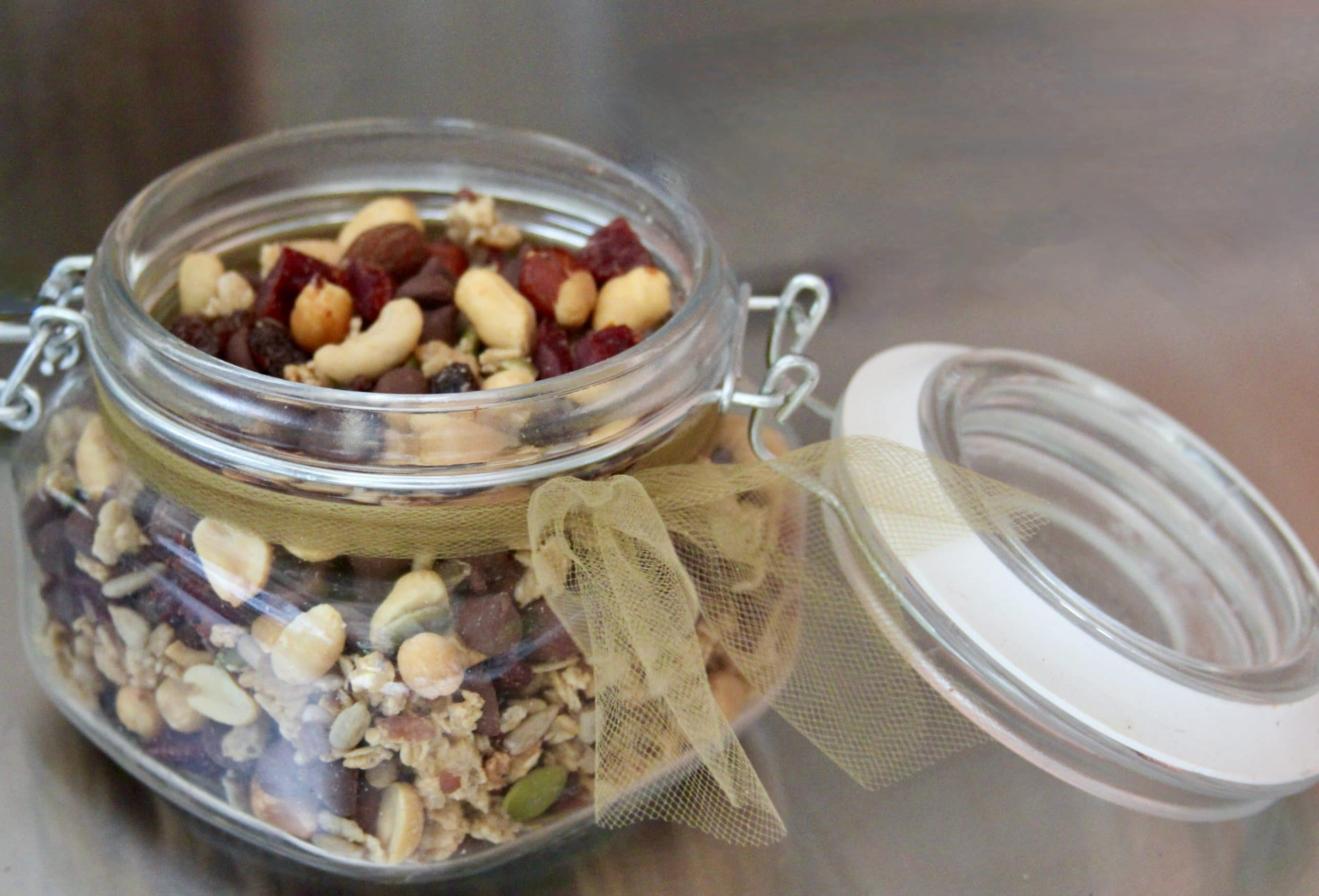 Jar of trail mix