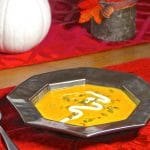 Smoked butternut squash soup in a bowl