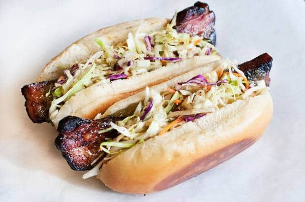bacon hot dog
