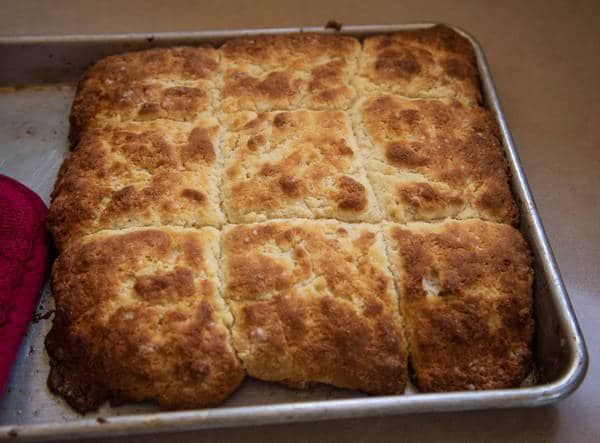 Southern biscuits in a pan