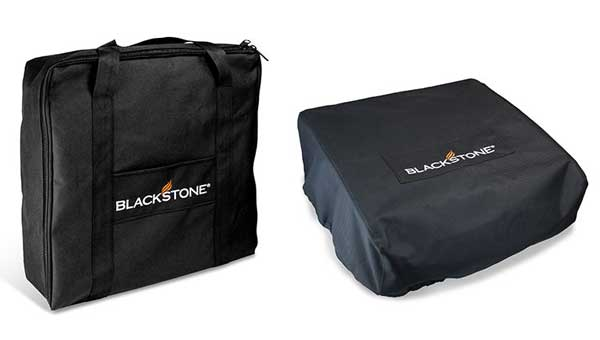 "Two black bags. Both labeled ""Backstone"""
