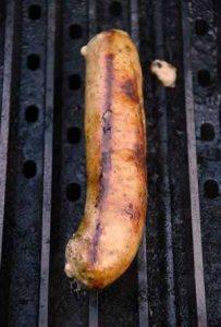 Bratwurst on the grill