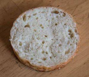 Sliced brioche hamburger bun
