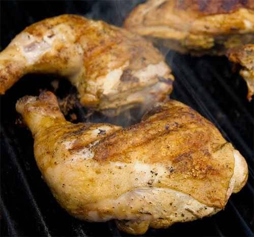 Grilled Cornell chicken
