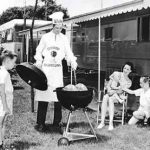 a family barbecue in the '50s