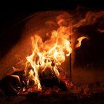 fire light at night