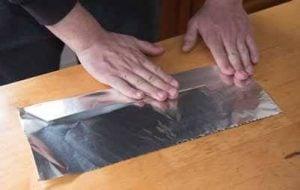 Folding tinfoil