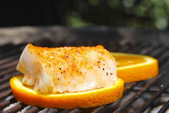 Grilling Fish on Citrus