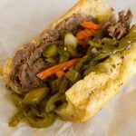 Chicago Italian beef sandwich