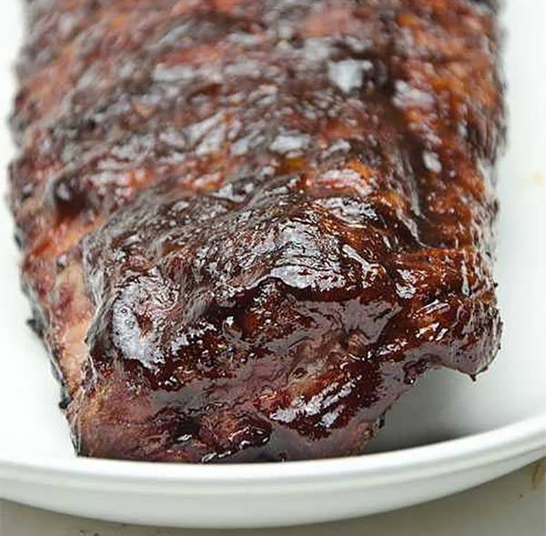 Ribs with Kansas City BBQ sauce
