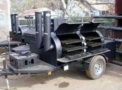 "Klose 30"" x 6 ' trailer smoker"