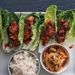 ssam jang on Korean grilled pork belly