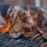 lamb loin chops on grill