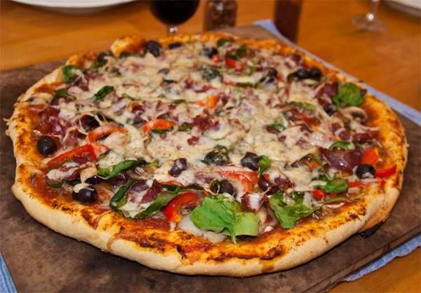 grilled capicola pizza