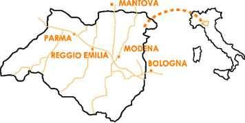 map of balsamic region in Italy