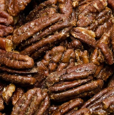 pecans with a sweet glaze