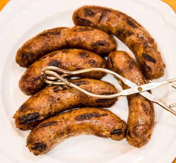 Grilled lamb Merguez Sausage