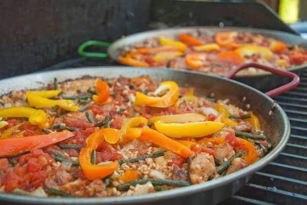 Paella in a paella pan