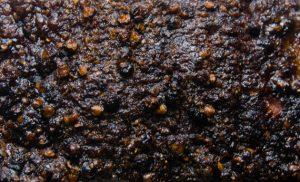 Crust on unsliced pastrami