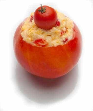 Pimento cheese in a tomato