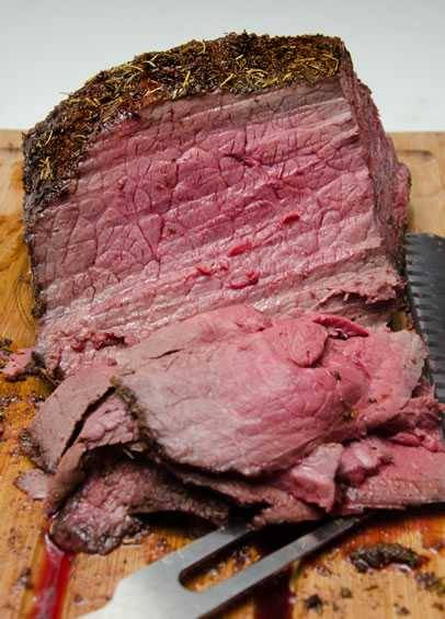 Home made pit roast beef