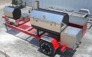 Modular trailer smoker and grill by Pitmaker