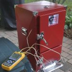 temperature testing the red box smoker