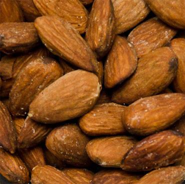 salted smoked almonds