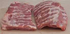 flat ribs and curved ribs