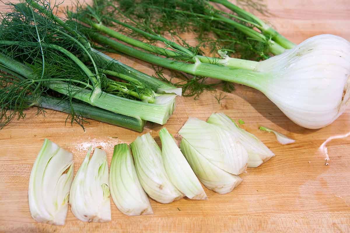 sliced fennel