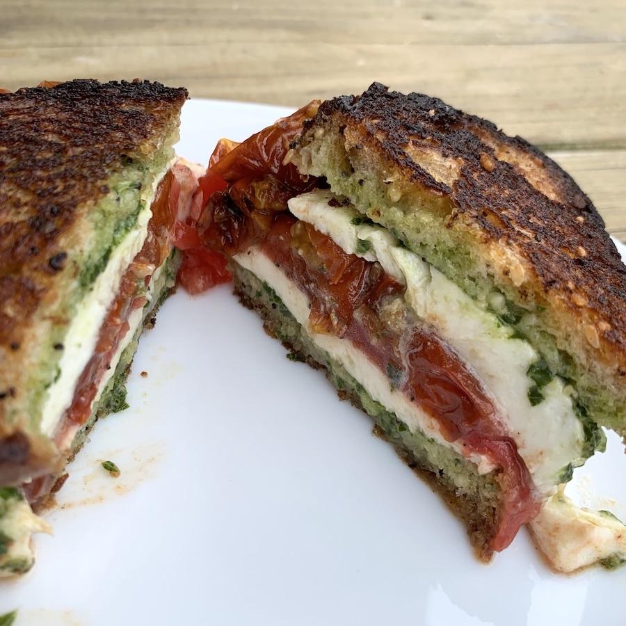 smoked Caprese sandwich