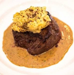 Filet mignon plated