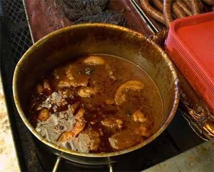Texas mop sauce in a pot