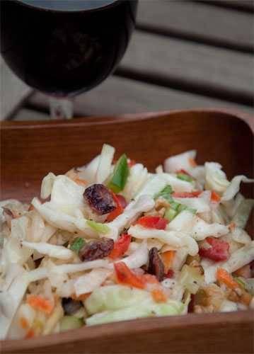 Waldorf salad as coleslaw