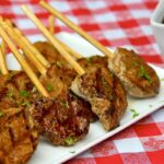 pork tenderloin lollipops with dipping sauce